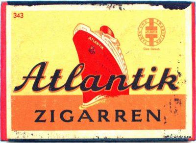 Phillumeny, Atlantik Zigarren, Streichholzschachtel