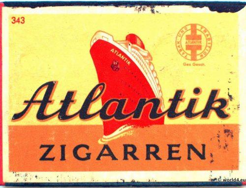 Vintage Matchbox Germany, Atlantic Cigars
