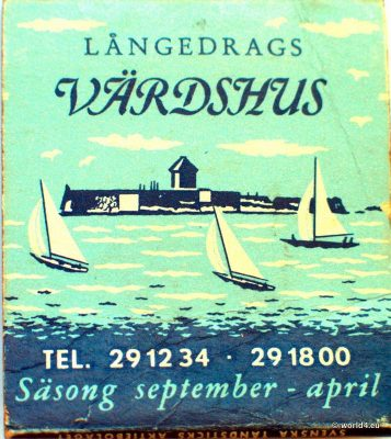 Långedrag Värdshus. Collectible Sweden Phillumeny Matchbox