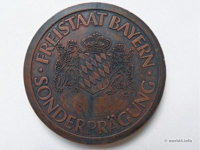 Bavaria coin, one penny. Numismatic, special edititon.