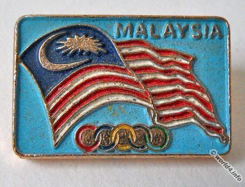 Pin Malaysia. 1972 Summer XX. Olympic Games Munich.