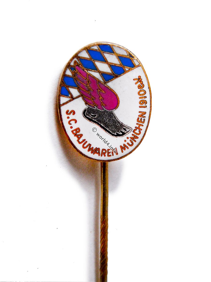 Vintage Pin, S.C.Bajuwaren, München 1910 e.V., Munich, collectible