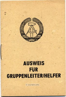 GDR Passport template. German Democratic Republic. Vintage DDR Graphic, Design.