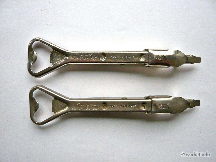 Waiters best friend. England Bar tool. Bottle Opener Vintage