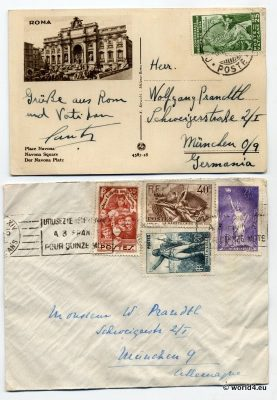 German Empire Philately. Italy Vatican postal service.