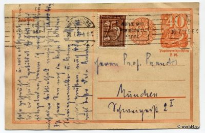 Philately Old German states, Collectibles, Bavaria postal history, Stamps, Postmark, Handwriting