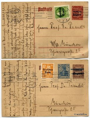 Philately Old German states, Bavaria, Collectibles, postal history, Stamps, Postmark, Handwriting