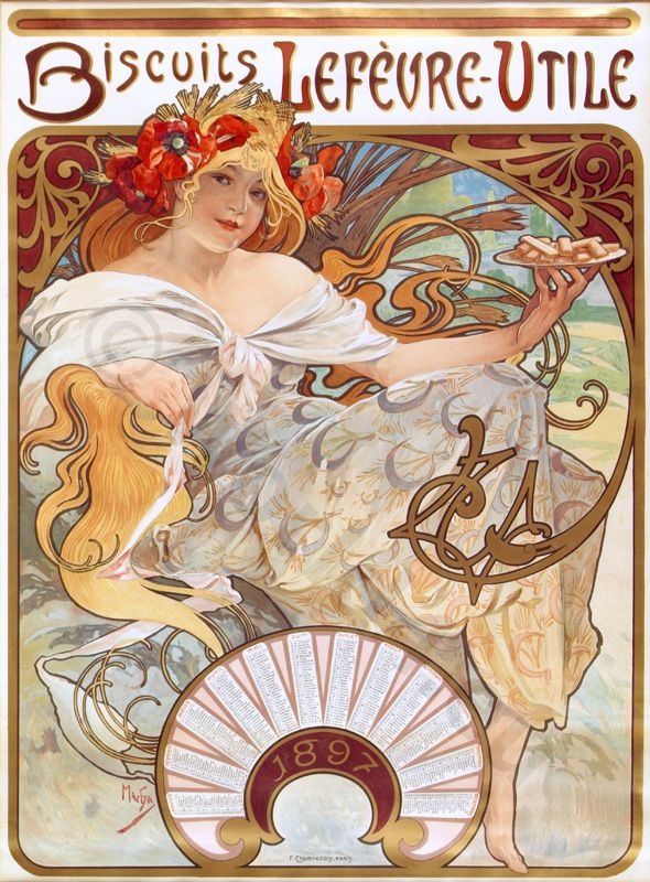 french art nouveau graphic design from 1897 lost and found