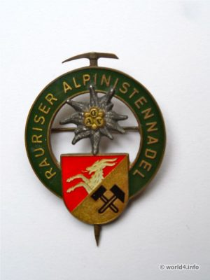 Alpinist needle, brooch from Rauris Austria. Vintage Jewelry design