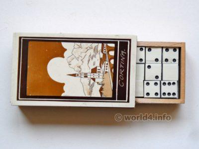 Cortina Souvenir Italy Domino game. Vintage Italian design