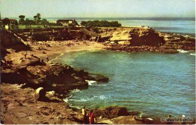 La Jolla, California, 1940s, Postcard, Topography,