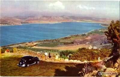 Lake Elsinore, California, Collectible Vintage Postcard. Topography, USA. Natural Color Scenes of the West