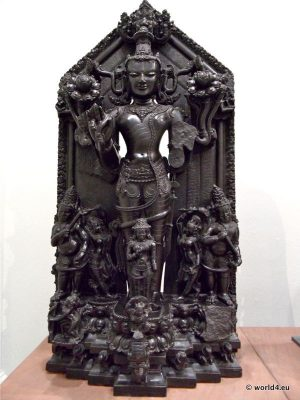 Hinduism god. Ancient Hindu sculpture