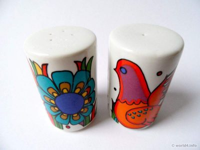 Vintage Villeroy & Boch, Acapulco porcelaine designs decor 1976. Serie: New wave