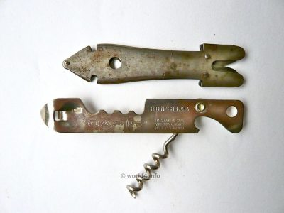 Antique glass cutter and Multifunctional tool. bottle opener, corkscrew, thin box, can opener