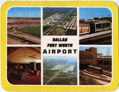 Dallas Fort Worth Airport. Vintage Postcard 1970s. Topography, US Architecture