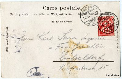 Collectible Switzerland stamps. philately. German Handwriting.