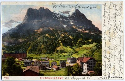 AK, Collectible Postcard. Grindelwald Switzerland. German Handwriting