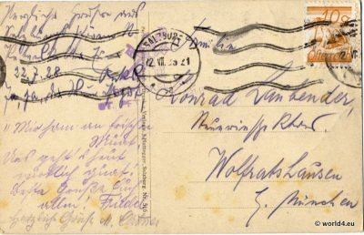 Austria,  Stamps, Philately, Handwriting, postmark,