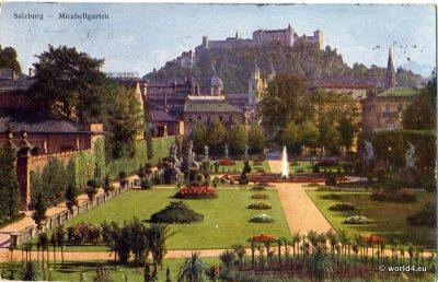 Salzburg, Mirabell Gardens, Palace Salzburg, Austria