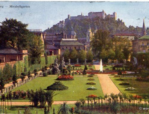 Salzburg Mirabell Gardens, Austria 1928.