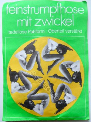 German Girls in Pantyhose, Vintage fashion, Germany, 70s. Space age graphics