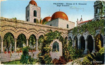 Chiesa di San Giovanni degli Eremeti at Via dei Benedettini, postcard
