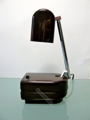 Lampette, Lampe Panton Eames era. German Space age industrial design