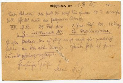 WW1 prisoner of war records. German handwriting. Template, rare Postmark