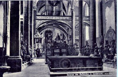 Hofkirche Innsbruck  Austria. Collectible Postcard, Austria Architecture, Topography.