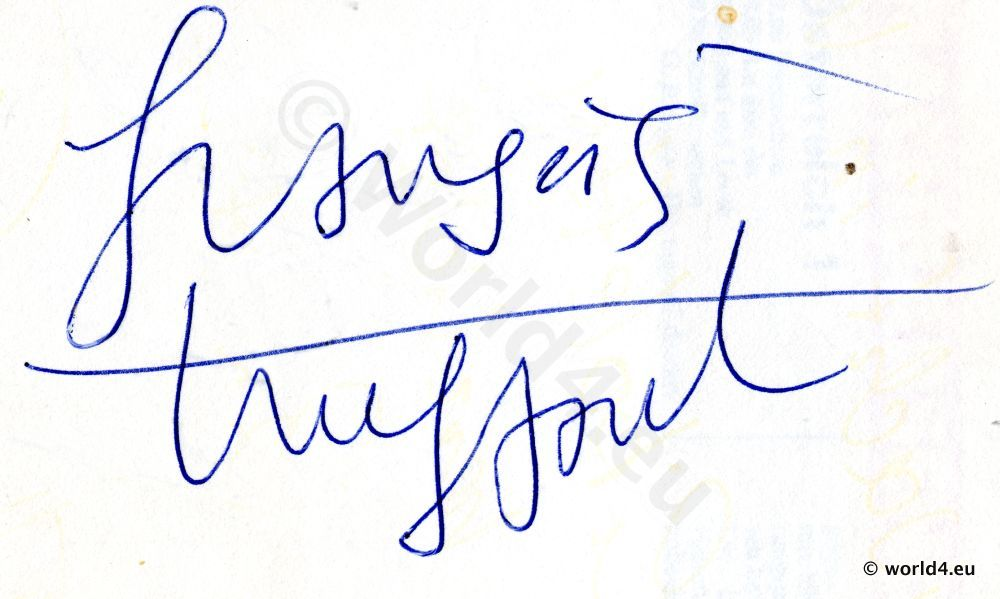 Autograph, Autogramm of famous French Nouvelle Vague director