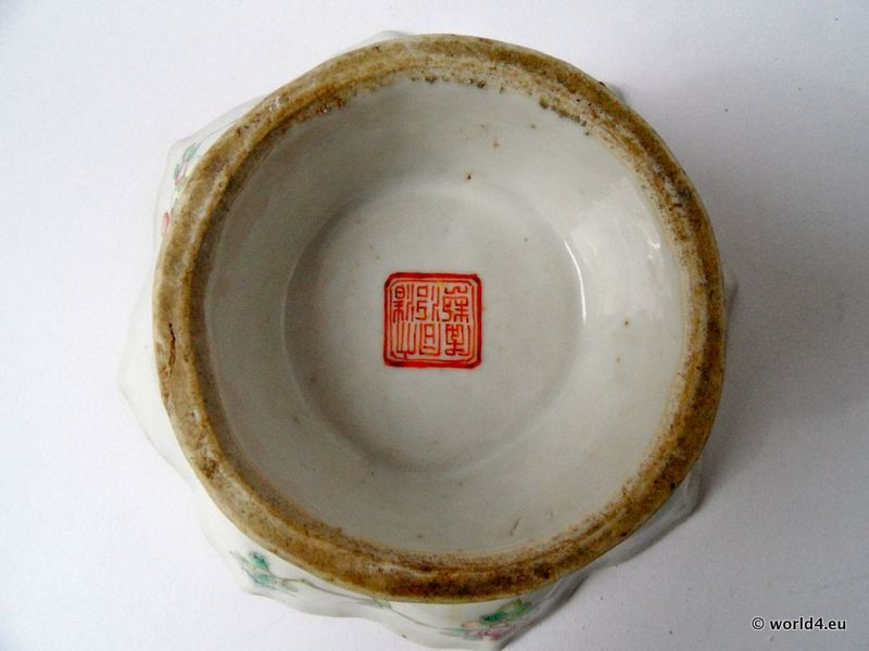 Antique Chinese Porcelain Tea Cup With Chinese Porcelain