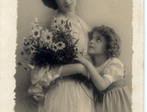 Mother and child. Art Nouveau era. German Empire.