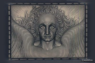 Fidus. Angel of Light. German Art Nouveau painting