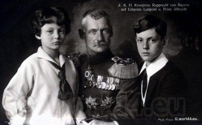 Crown Prince Rupprecht of Bavaria. Prince Albert of Bavaria. Kronprinz Albrecht von Bayern. Collectible Postcard
