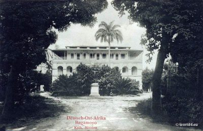 German East Africa Bagamoyo. Colonial Architecture, postcard, collectible.