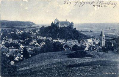 AK Wörth a.d. Donau, 1926. Antique German Postcard. German Topography. Medieval City
