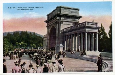 Bandshell, Band Stand, Golden Gate Park, 1910th