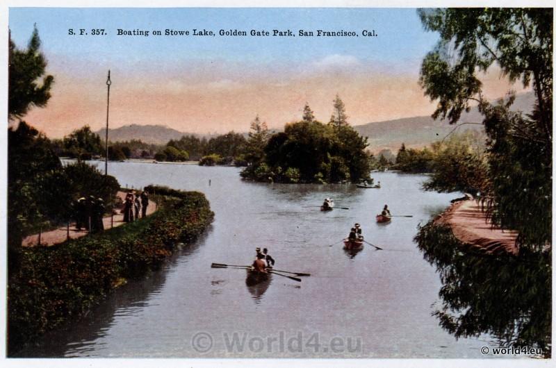 Boating, Stowe Lake, Golden Gate Park, San Francisco California