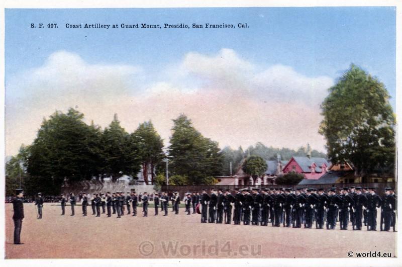 Coast Artillery, Guard Mount, PresidioSan Francisco, California