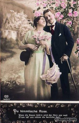 German Lovers Postcard, German empire Vintage 1920