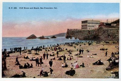 Cliff House, Beach, San Francisco, Postcard, Collectible, US