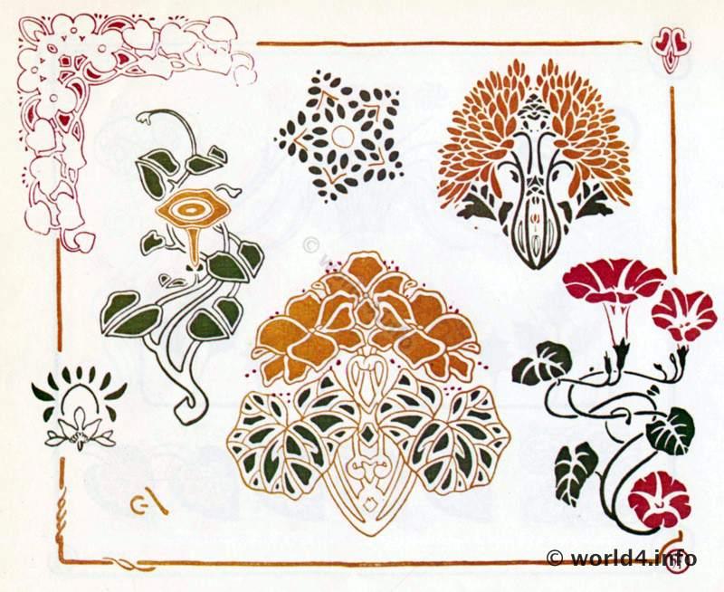 Art Nouveau Ornaments. Decorative Arts By Alfons Mucha