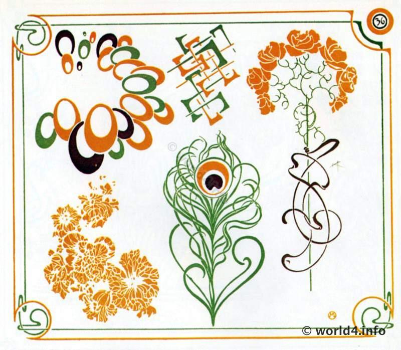 Art Nouveau Ornaments - Art deco Period 1910. | Lost and Found