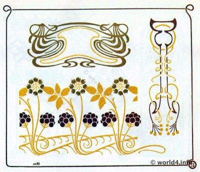 Alfons Mucha, Art nouveau, illustration,Ornament