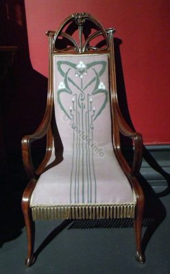 Art Nouveau Furniture, Armchair