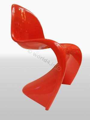 Panton Chair. Design Furniture. Pop art. space age