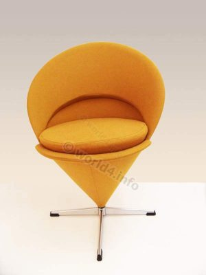 Mid-century Furniture Design, Verner Panton Cone Chair. Lounge space age