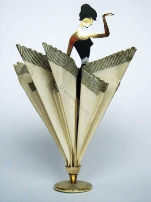 Table Decoration Ballerina Napkin Holder 1950s. Mid-Century Design Germany.