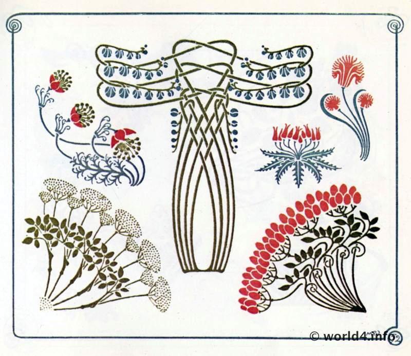 Alphons Mucha Art nouveau Ornaments. Illustrations, Design Decoration ...